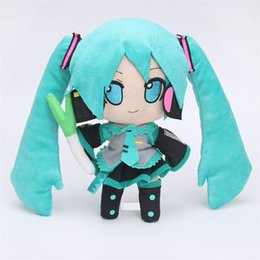 Wholesale dolls vocaloid miku - Anime Hatsune Miku VOCALOID Series Virtual Singer Smiles 24CM Snow Hatsune Miku Plush Toy Stuffed Soft Dolls for Children Gift