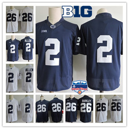 Wholesale Black 26 - Mens Penn State Nittany Lions Marcus Allen College Football Jersey NCAA #26 Saquon Barkley #9 TRACE MCSORLEY PSU Lions Jersey S-3XL