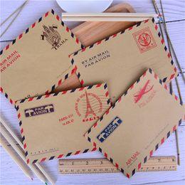 2019 New Style 10pcs 9.6*7.3cm Envelope Nostalgic Postcard Letter Stationary Storage Brown Kraft Paper Vintage Envelop Miniature Gift Paper Envelopes Mail & Shipping Supplies