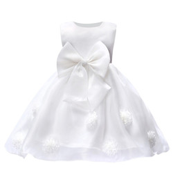 children korean clothing style Promo Codes - Korean version of girls tutu flower wedding dress children performance long lace dresses princess skirts for party birthday clothes