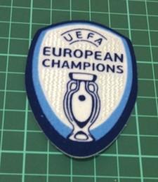 Emblemas de remendo futebol on-line-Campeões Europeus de qualidade superior 2016 Patch Portugal Euro 2016 Campeões Remendo Patches De Futebol Portugal Champions Badge Frete grátis