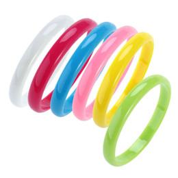 Canada 6pcs bracelet de mode en plastique bracelet bracelets couleur bonbon pour les femmes enfants (envoyé couleur aléatoire) cheap fashion plastic bangles Offre