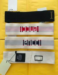Banda branca de suor on-line-1 pcs moda g headband 5 cores fashion show faixa de suor preto branco vermelho cabeça banda tênis headwear respirável