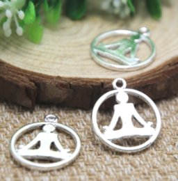 Ohm bijoux en Ligne-12 PCS / lot, Symbole OM, Breloque yoga, Yogi, OHM, Symbole de méditation, Pendentif yoga, Méditation, Fourniture de trouvailles, 24 * 20mm