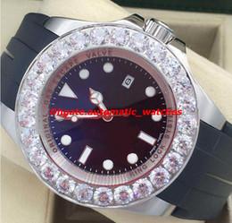 relógio automático personalizado Desconto Relógios de luxo Mens Brand New Custom 44mm Relógio de Diamante Genuíno Automático dos homens Relógio de Pulso Novo Estilo