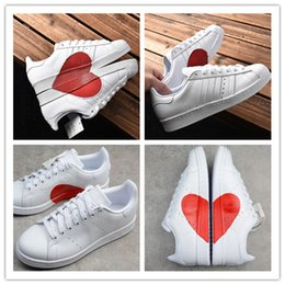 Wholesale Best New Casual Sneakers - 2018 New Unveils Best Sellers Lovers Superstar women men stan shoes fashion smith sneakers Top quality casual leather sport running shoes