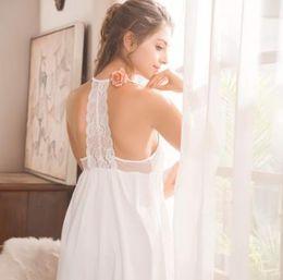 Argentina Vestido romántico francés de manga larga, falda de chaleco, dulce de algodón puro, encaje elegante sexy, vestido de corte vintage para mujer Suministro