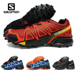2018 Summer New Salomon Speedcross 4 4s Red Trail Runner Zapatos deportivos de los hombres y de las mujeres Zapatillas de deporte de la venta caliente de la moda Zapatos corrientes al aire libre desde fabricantes