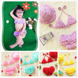 5f9fe72c069 smallest bikini suits Promo Codes - New Girl's Cute Lace Pretty Yarn  Lace-up Halter
