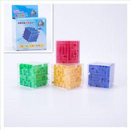 Wholesale Mazes Kids - Speed Puzzle Magic Square Game For Children Educational Toys Gift 3D Mini Maze Magics Cube Multi Color 3 5jx C