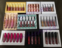 Wholesale Cosmetic Kits - Kylie Cosmetics Send Me More Nudes Lipstick fall Velvet & Matte birthday valentine chirstmas koko Lip Gloss Kit 4pcs & 6pcs set