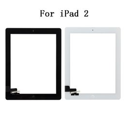 Wholesale Ipad2 Home Button - A+++ High Quality For iPad 2 Digitizer Touch Screen Assembly With Home Button & Adhesives Liftime Warranty DHL EMS Free Shipping