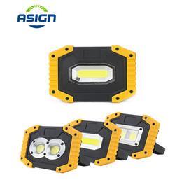 Аккумуляторная лампа онлайн-20W 400LM Rechargeable LED Portable Spotlight 18650 Battery LED Work Lighting Lamp For Outdoor Emergency Floodlight High Bright