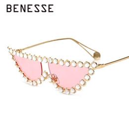 2019 pequeños espejos enmarcados Pequeño ojo de gato Diamante gafas de sol Mujeres 2018 Cristal marca de diseñador de lujo de lujo colorido Marco de metal gafas de sol UV400 rebajas pequeños espejos enmarcados