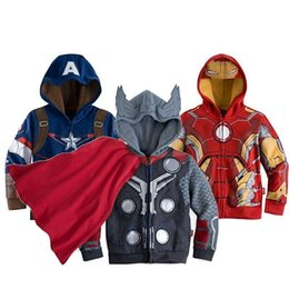 Wholesale Hot Boys Hoodie - Hot Spring autumn avengers Baby Boy's Cotton Hoodies Kids Thor Casual jackets.Baby Boys Long Sleeves hoodies Outwear&Coat