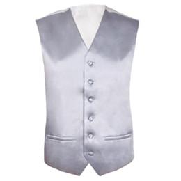 Wholesale Wholesale Men S Waistcoats - Mens Wedding Waistcoat Groom (Silver S UK 36)