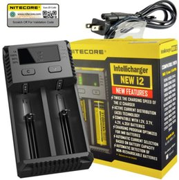 cargador sony vtc4 Rebajas Cargador Nitecore D2 100% original Cargador universal de cigarrillos E Intellicharger LCD Display para 18650 18350 18500 14500 Batería Li-on