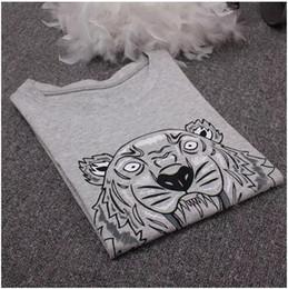 Wholesale Women S Polo - High quality men women O-neck Tiger Hiphop T-shirt woman man cotton Short sleeve T-shirt Tops polo Tees Sportwear