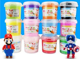 Wholesale Super Light Clay - Newest 300g 24 Colors Super Light Weight Bottled Clay Soft Eco-friendly Plasticine Magic clay training children