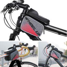 caso della borsa della bici Sconti WHEELUP Touch Screen Bike Bag Bicicletta Top Tube Phone Case Ciclismo anteriore Frame Pouch