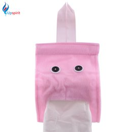 Wholesale Cartoon Toilet Paper - Upspirit Plush Toilet Paper Towel Holder Tissue Container Hanging Type Cute Cartoon Roll Paper Case Tissue Box Toilet Supplies