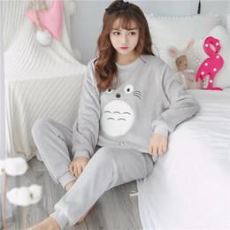 e60d8b5b01a SHUANGYING Flannel Women Sleepwear Winter Female Pajamas Sets Thick Warm  Female Suit Long Sleeve Pyjamas Women Velvet Home Clothes discount flannel  pyjamas ...