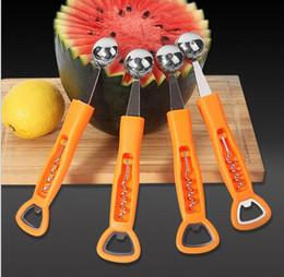 Wholesale Digging Tools - Ice Cream Dig Ball Scoop Spoon Baller Tool Watermelon Melon Fruit Bottle Opener Spoon Corkscrew Red Wine beer Opener KKA4236