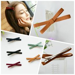 Tela de gatito online-Tela de tela coreana Cross Bow Duckbill Clip de pelo Baratijas Horquilla para niñas Mujeres Hello Kitty Accesorios para el cabello Horquillas para el cabello 4 / L