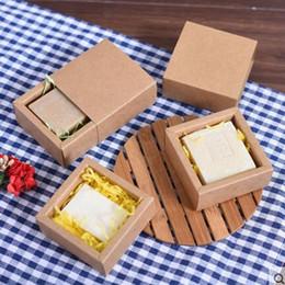 2019 caixa de artesanato de gaveta Forma de gaveta pequena Ofício Artesanal de Embalagem de Sabão Artesanato Caixa de Embalagem de Kraft desconto caixa de artesanato de gaveta