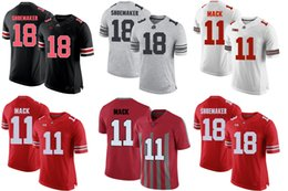 Factory Outlet- NCAA Ohio State SHOEMAKER 18 Ohio State MACK 11 College  Football Jerseys Stitched Jersey Mix Order sports Jerseys 02a5ad83b