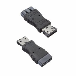 Wholesale Esata Sata Cable - Wholesale- Portable SATA Female Jack to eSATA Male Plug Convert Convertor Adapter Connector For HDD Hard Drive