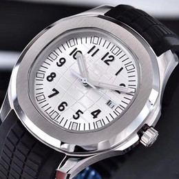 Wholesale comfortable folding - luxury brand watch 40mm Automatic 2813 movement steel case comfortable rubber strap stainless steel clasp AAA watches 008