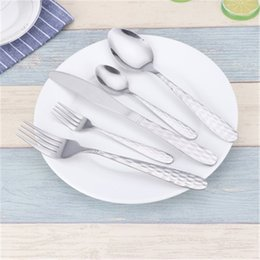 service knife Promo Codes - 5 Piece Stainless Steel Flatware Set Dinner Fork Spoon Knife Serving Set Tableware Set Service for 1 Home Kitchen Tool