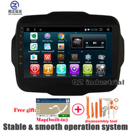 Wholesale Rds Car Stereo - QZ industrial HD 1024*600 9inch Android 6.0 for JEEP RENEGADE Car DVD player with Radio Navigation 3G 4G GPS WIFI BT Glonas RDS SWC free map