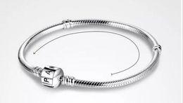 2018 PAN 3mm 16-23cm 925 Argent Plaqué Chaîne Bracelet avec Barrel Fermoir Fit Perles Européen Pan Bracelet En Gros Chaîne De Serpent ? partir de fabricateur
