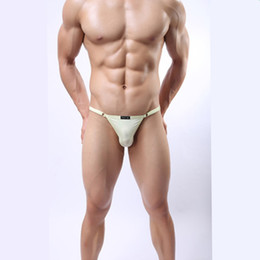 Wholesale Ice Silk Lingerie - Hot Selling! Brand Underpants Men's Sexy Lingerie Sexy Solid Ice Silk Underwear Men Transparent Breathable Men's Gay G-string