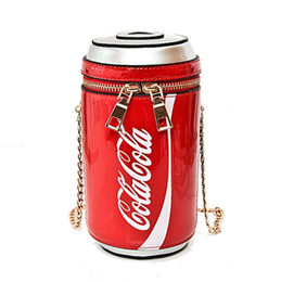 Wholesale fashion body shape - Summer Fashion new handbags High quality PU leather Women bag Personality cola cup Sweet girl Mini Chain Shoulder Messenger Bag