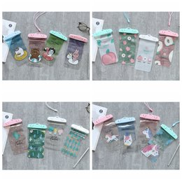 Wholesale One Friend - Cactus joanna friends peach Unicorn Card Holder lanyard With Neck Rope Girls Cell Phone Bags Pouch PVC Beach Purse Money Wallet