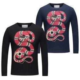 Wholesale Mens Cap Sizes - Medusa hoodies 2017 autumn winter Italy Luxury Brand Mens Harajuku sweater Men's fleece casual athletic No cap Hoodie size of Asia M-3XXL