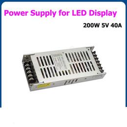 2019 lampade a casa di senso Alimentatore switching 5V 40A 200W per P2.5 / 3/4/5/6 / 7.62 / 8/10 / LED Schermo del modulo del pannello matrice