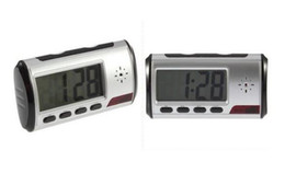 Wholesale dvr clock - Free Shipping Wholesale Digital Alarm Clock Camera Video DVR Camcorder