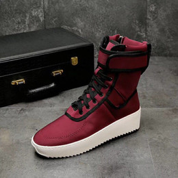 Wholesale quality tooling - High quality Free SEASON kanye west season boots factory clusive luxury genuine leather persional ilitary outdoor tooling boots