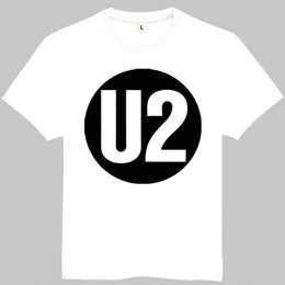 Wholesale Most Popular T Shirts - U2 t shirt Most popular music short sleeve gown Rock band tees Leisure printing clothing Quality cotton Tshirt
