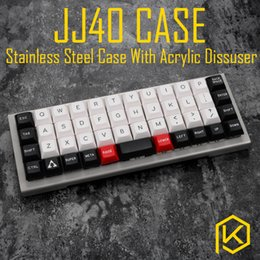 Wholesale Panel Stainless Steel - stainless steel bent case for jj40 JJ40 40% custom keyboard acrylic panels acrylic panel diffuser also can support planck