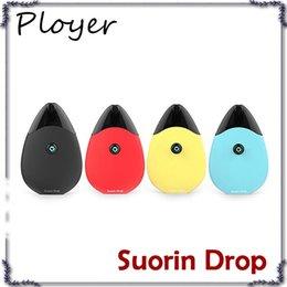 Wholesale drop charge - Suorin Drop Starter Kit 310mAh Built-in Battery W 2ml Cartridge Water-drop Design & Micro USB Charging E-cig Vape Kit DHL Free 0268078-2