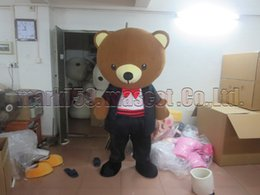 Wholesale mascot costume wedding - Wedding bear mascot costume Free Shipping Adult Size,bear mascot plush toy carnival party celebrates mascot factory sales.