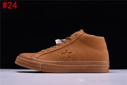 Wholesale raw yellow - 2017 AAA Quality Conve CONS One Star WP Mid Raw Sugar Sand Brown Shoes 158834C Sneaker Trainers Canvas shoes With box