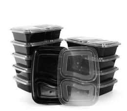 2020 caja desechable de contenedores de almuerzo Desechable Microondas Almacenamiento de alimentos Caja fuerte Comida Preparar Contenedores Lonchera Contenedor de comida Vajilla Cena Bento caja desechable de contenedores de almuerzo baratos