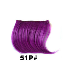 Wholesale Hair Bangs Pieces - Bangs FREE SHIPPING OMBRE COLOR Fringe Clips Hair BANG Styling Clip In Front Bang Fringe Hair Extension Straight Synthetic Hair Piece BANG