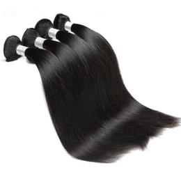 Wholesale buy remy human hair - 8A Malaysian Straight Hair 10-28 inch 100% Malaysian Virgin Human Hair Bundles 100G Remy Hair Weave Extensions Buy 3 OR 4 BUNDLES